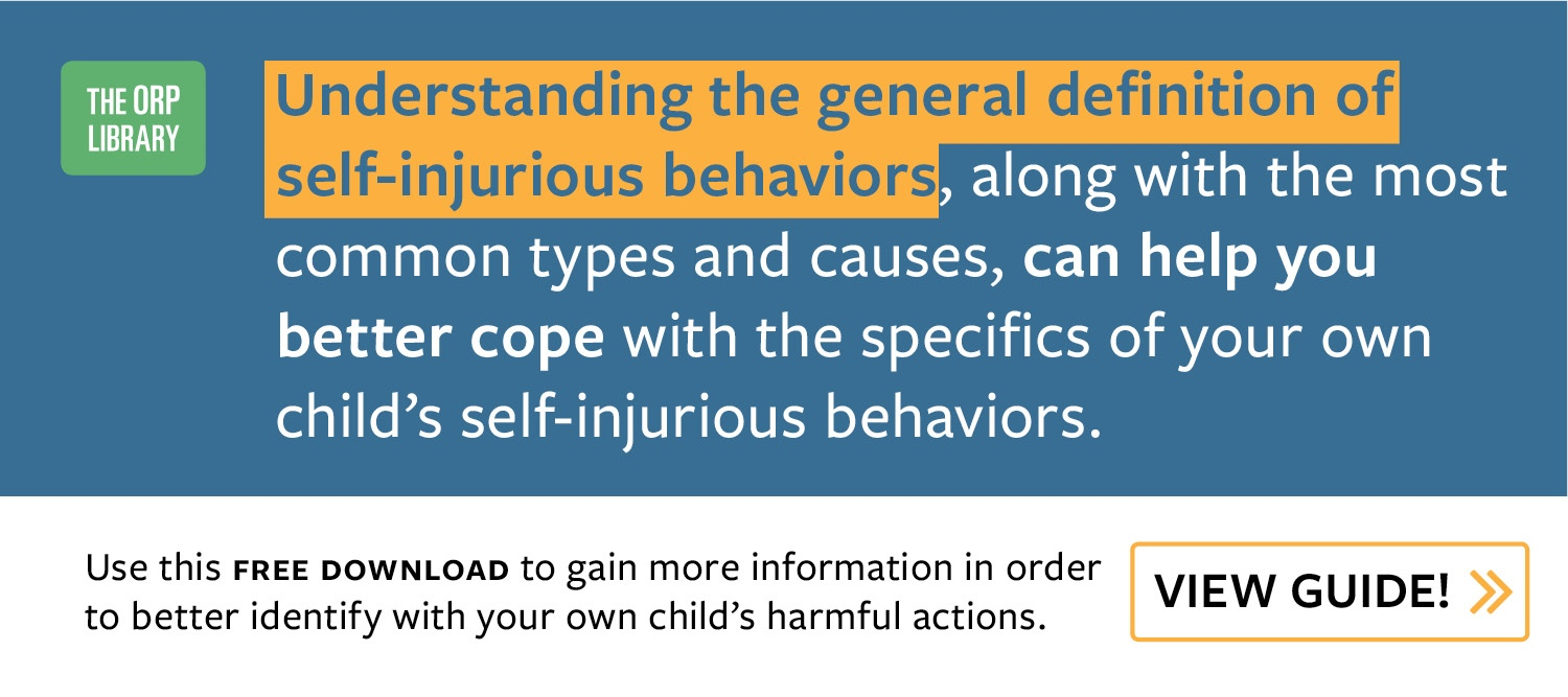 Why Is My Child Hurting Himself? Understand the Reasons Behind Self-Injurious Behavior